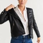 Leather Biker Jacket Women Mango United Kingdom