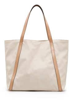 bolso shopper color beige de Mango Touch