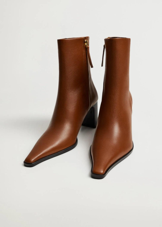 Heel leather ankle boot - Medium plane