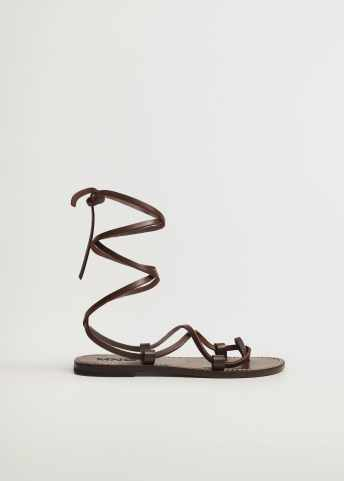 Leather straps sandals - Article without model