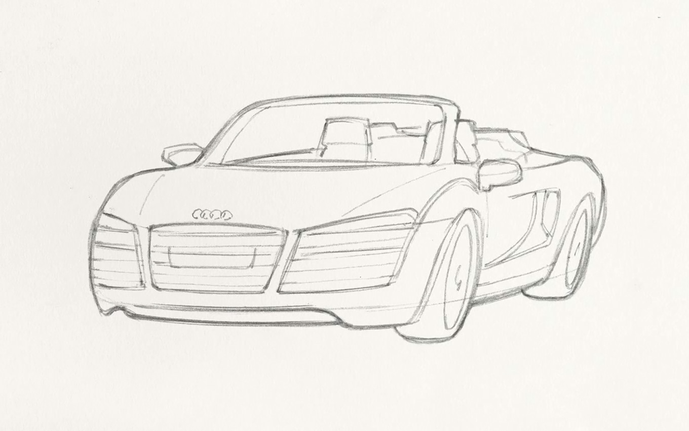How To Video Sketch Iron Man S Audi R8 Spyder
