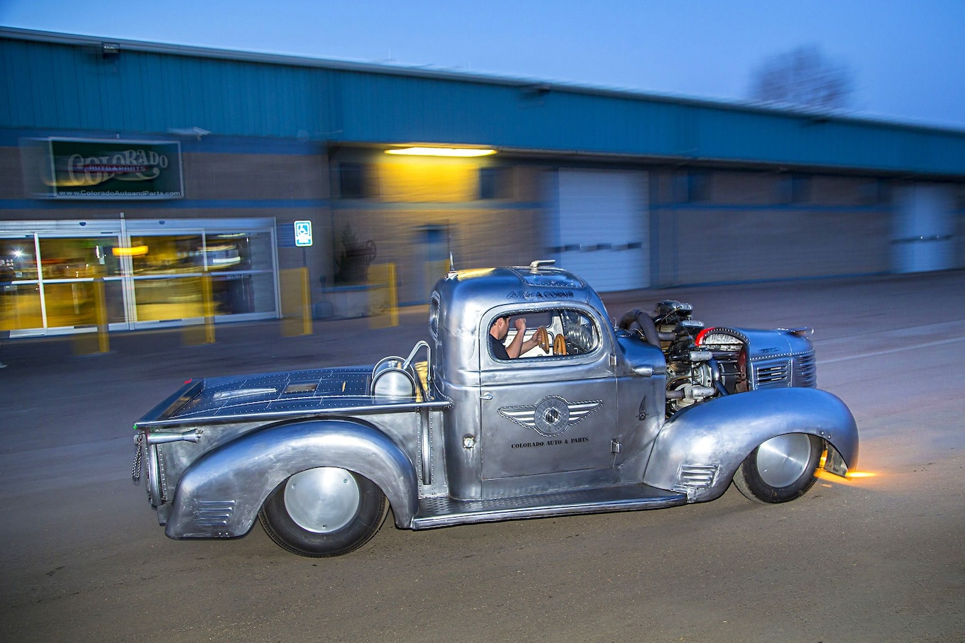This Airplane Engine 1939 Plymouth Pickup is Radically Radial