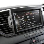 2017 Kia Sportage EX AWD center stack screen