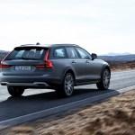 2017 Volvo V90 Cross Country rear three quarter in motion 01