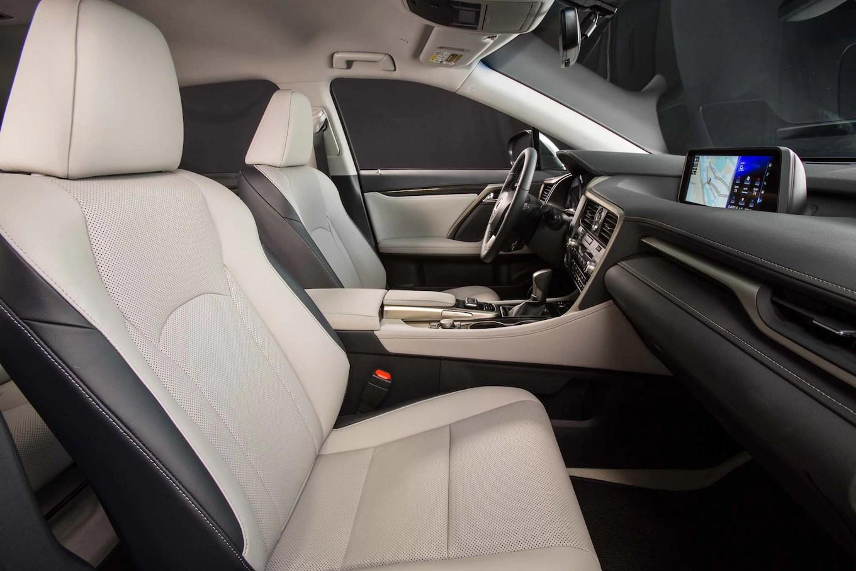 2017 Lexus RX 350 front interior seats Motor Trend
