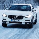 2017 Volvo V90 Cross Country front end in motion