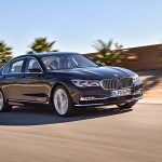 2017 BMW M760i xDrive V12 Excellence front three quarter in motion 07