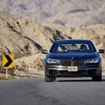 2017 BMW M760i xDrive front end in motion 02
