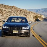 2017 BMW M760i xDrive front end in motion