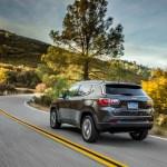 2017 Jeep Compass Latitude rear three quarters in motion