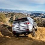 2017 Jeep Compass Trailhawk rear three quarter off road