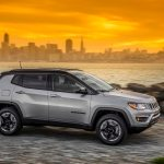 2017 Jeep Compass Trailhawk side in motion