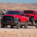 2017 Ram 2500 Power Wagon front three quarter in tow 1