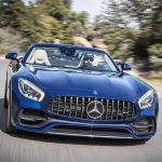 2018 Mercedes AMG GT Roadster front end in motion 02
