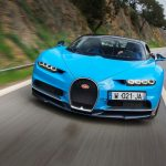 Bugatti Chiron front end quarter in motion 04