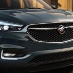 2018 Buick Enclave Avenir front clip closeup wheel turned
