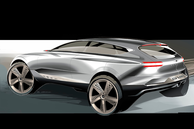 Genesis GV80 Fuel Cell Concept SUV Rear Three Quarter