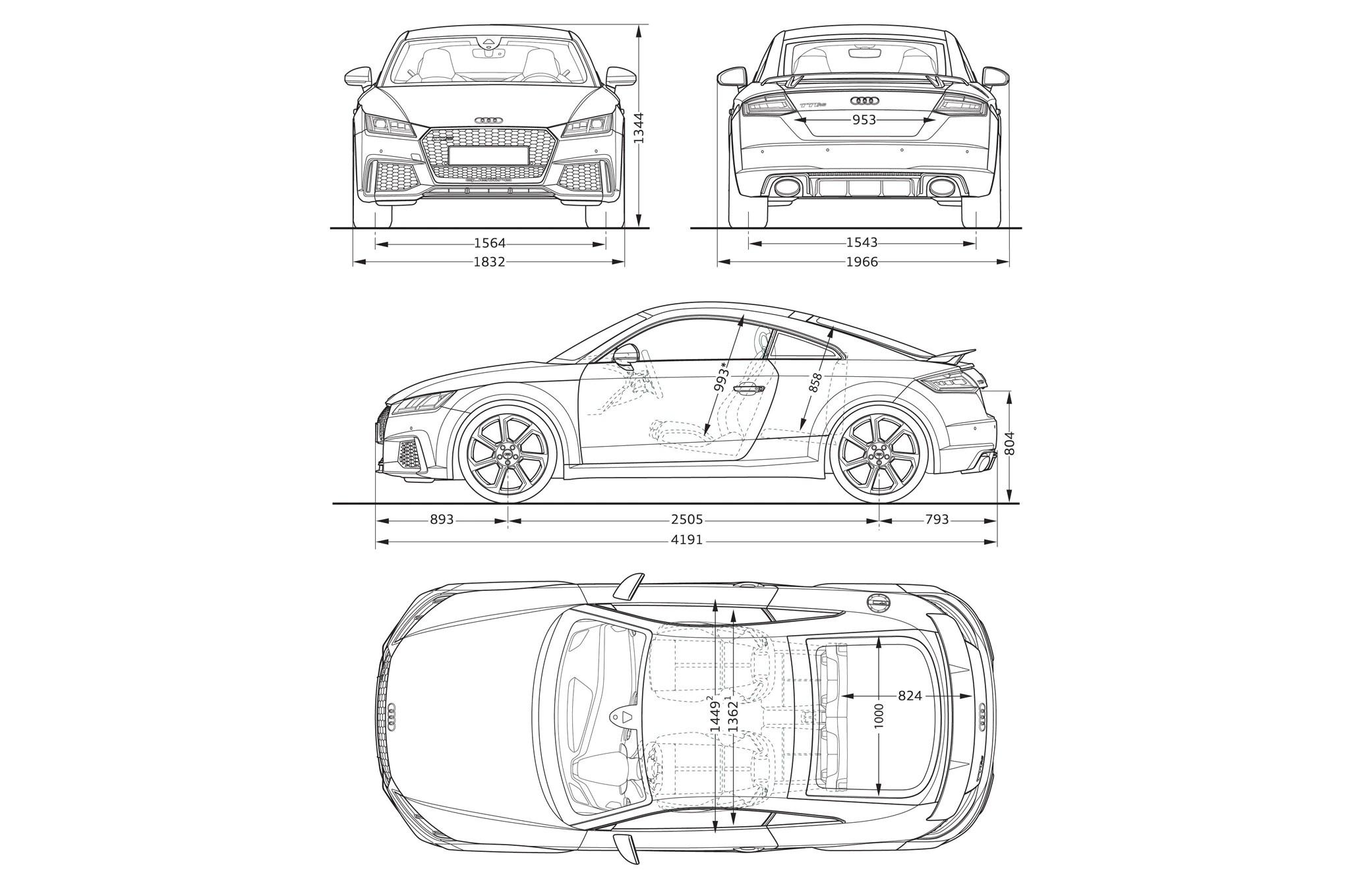 Audi Tt Rs Coupe Dimensions