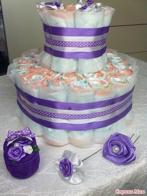 торт из памперсов своими руками пошагово фото кубачинское