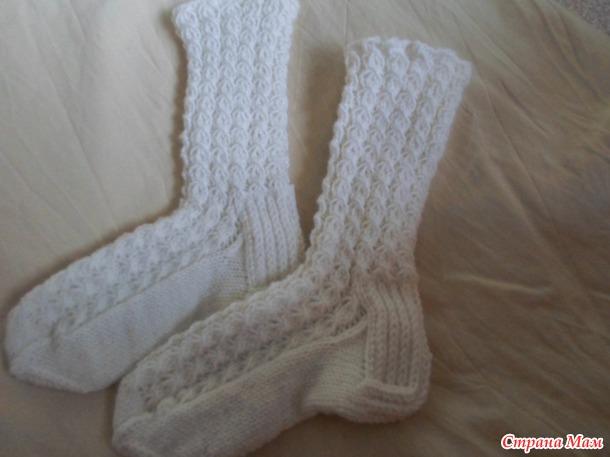 Vớ cho người mới bắt đầu. Master Class-Làm thế nào để đan vớ ấm bình thường với gót dày.