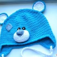 Вяжем шапочку Мишка Тедди крючком для ребенка