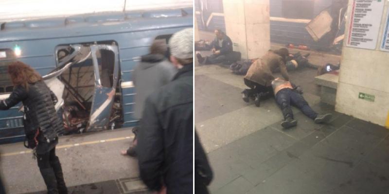 Image result for O explozie s-a produs în metroul din Sankt-Petersburg