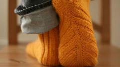 Sådan strikkes sokker på cirkulære eger
