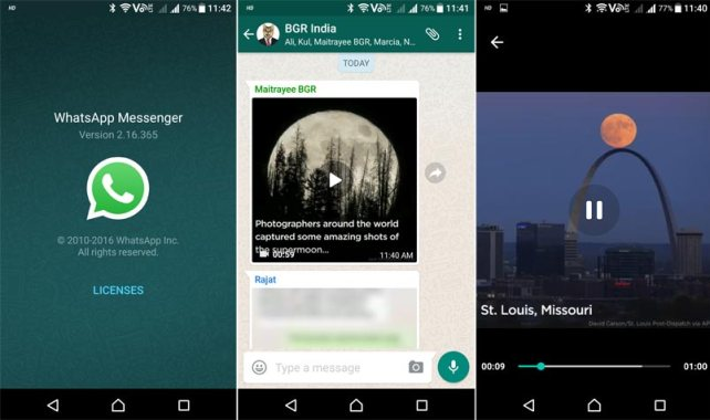 Image result for whatsapp video streaming