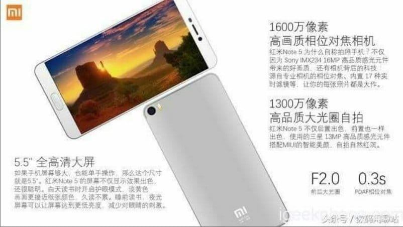 Xiaomi-redmi-note-5-leak
