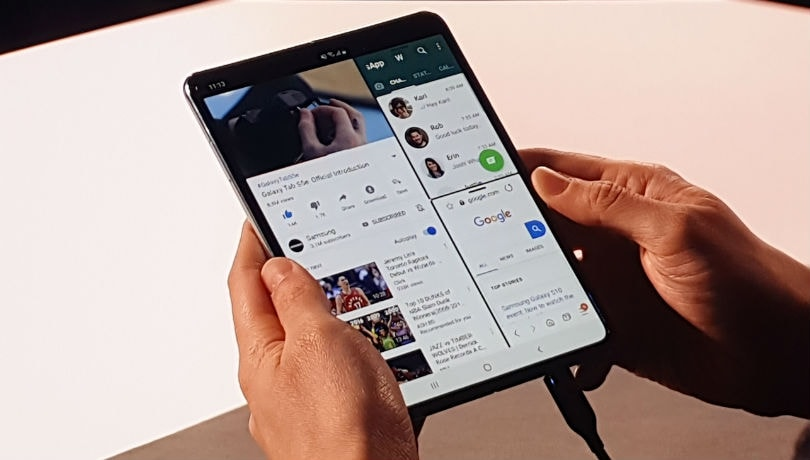 Samsung Galaxy Fold appears in a short hands-on video