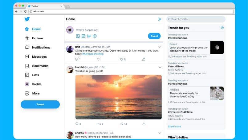 How to get old Twitter web interface back with few clicks