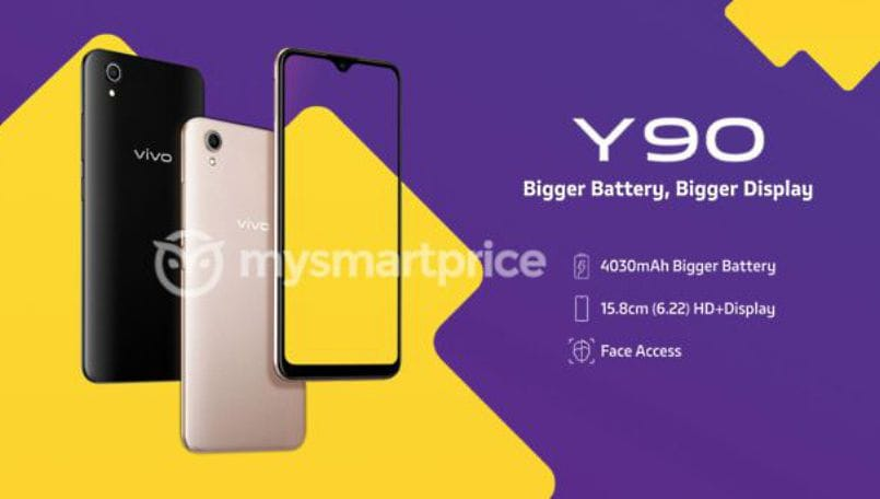 Vivo Y90 entry-level smartphone with Helio A22 tipped to launch in India at Rs 6,990