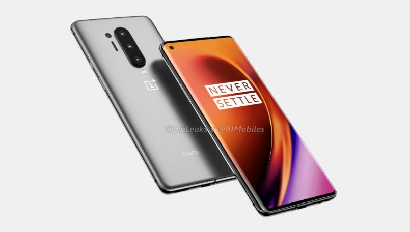 OnePlus 8 Pro leaked render hints at quad camera setup and hole punch display
