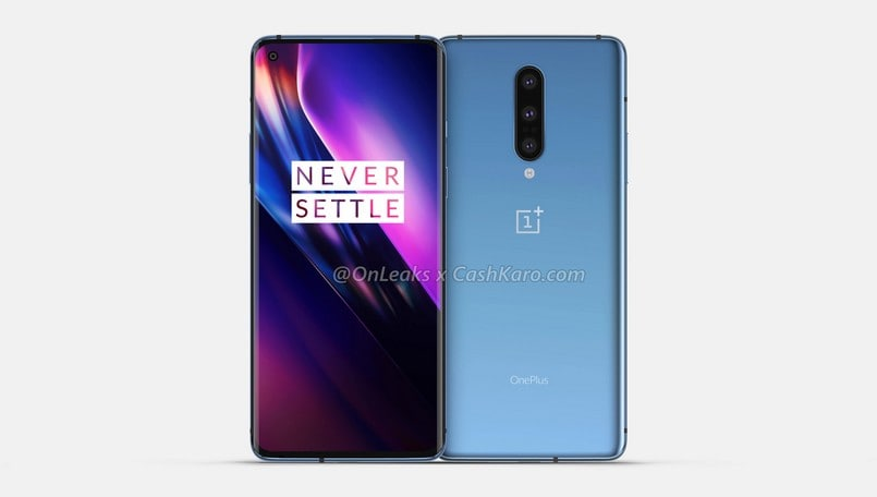 OnePlus 8 renders surface with a curved display, punch-hole selfie camera, and more