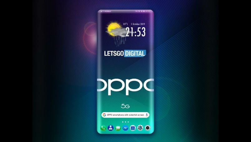 Oppo patents a smartphone design with four-sided curved edges and in-display light sensor