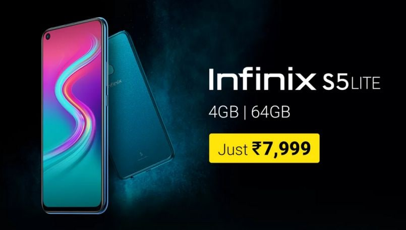 Infinix S5 Lite with triple rear cameras launched in India, priced at Rs 7,999