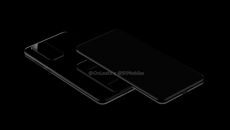 Huawei P40 and P40 Pro design renders leak; tease Samsung Galaxy S11-like camera
