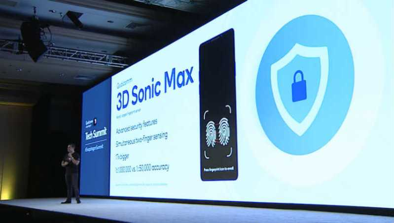 Qualcomm 3D Sonic Max announced with simultaneous two finger recognition and better security