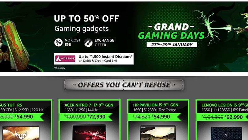 Amazon Grand Gaming Days Sale: Deals on gaming laptops, accessories and others