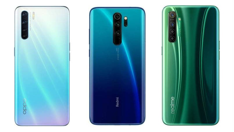 Oppo F15 vs Xiaomi Redmi Note 8 Pro vs Realme X2: Price in India, Specifications and Features compared