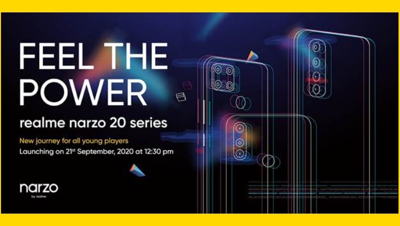 Realme confirms Narzo 20, Narzo 20 Pro and Narzo 20A launch for September 21