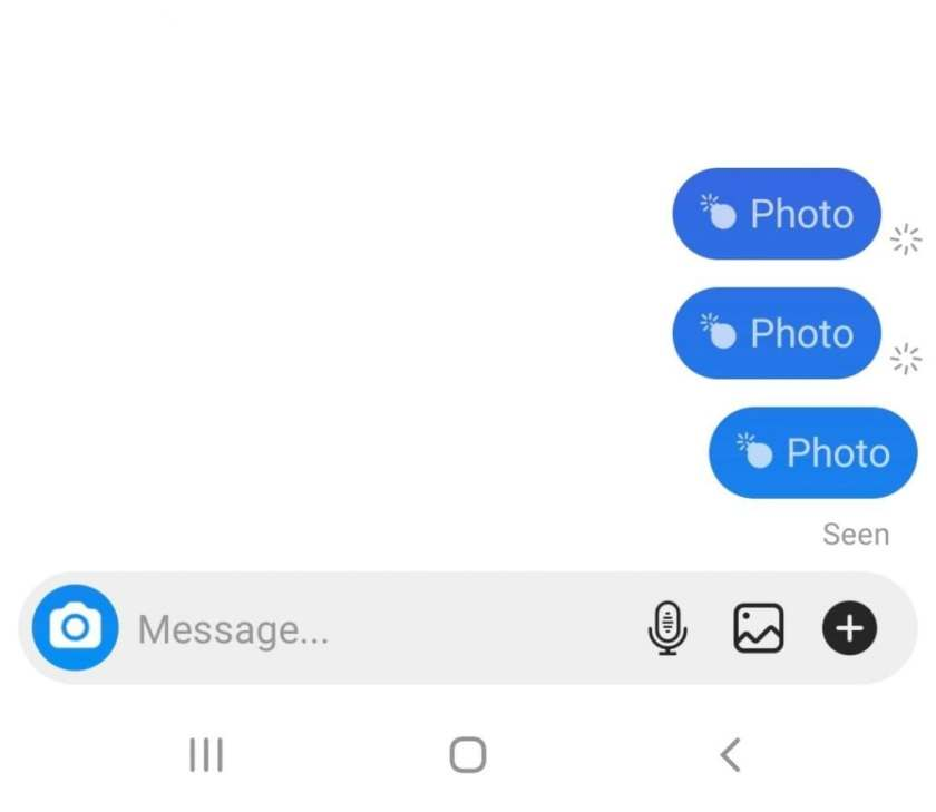 Instagram disappearing message A
