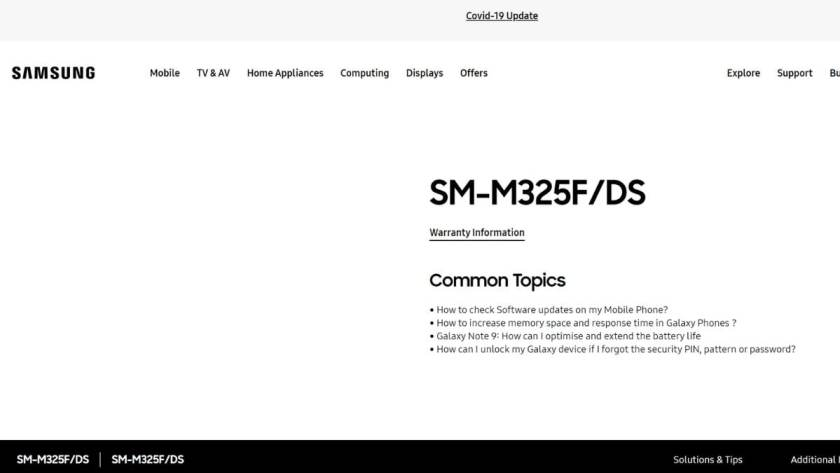 galaxy m32 support page