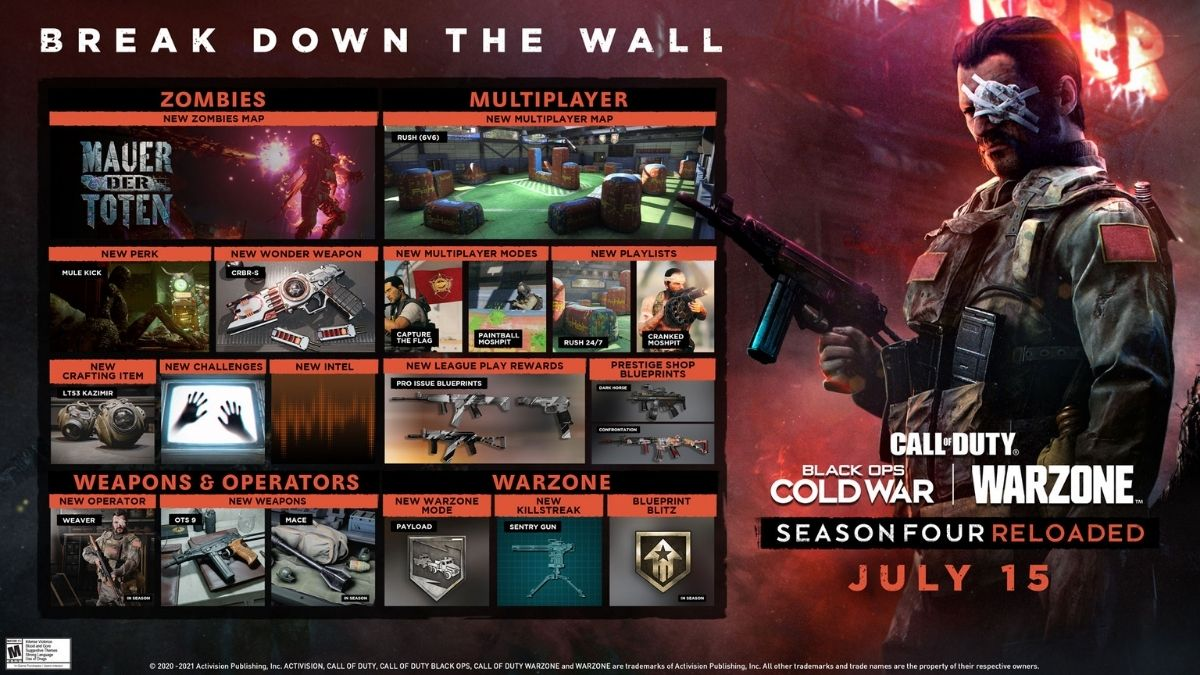 Call of Duty, Call of Duty Black Ops Cold War, Call of Duty Warzone, Call of Duty Black Ops Cold War Season 4, Call of Duty Warzone Season 4, Call of Duty