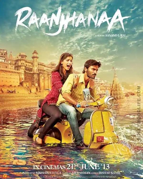 Raanjhanaa new poster: Sonam Kapoor and Dhanush in deepwaters