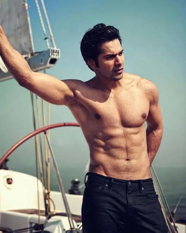 Image result for varun dhawan shirtless