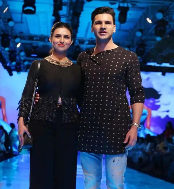 Lakme Fashion Week 2019: Divyanka Tripathi Dahiya and Vivek Dahiya twin in black for designer Kaveri's show