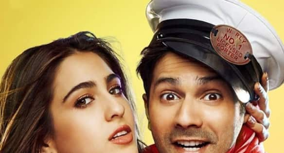 Varun Dhawan and Sara Ali Khan try hard but fail to evoke the needed laughter