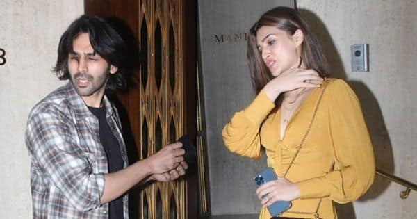 It's Awkward! THESE hilarious pics of Kartik Aaryan and Kriti Sanon will get the first Sunday of the new year off to a fun-filled note