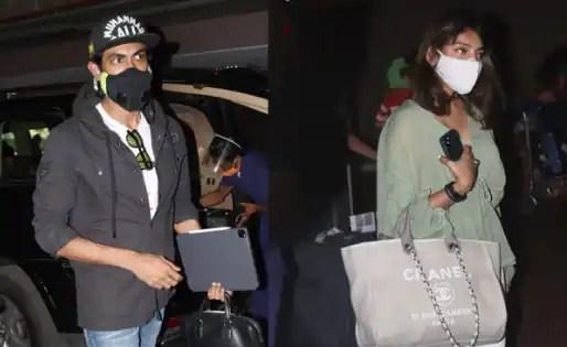Rana Daggubati and Miheeka Bajaj snapped at Mumbai airport — view pics